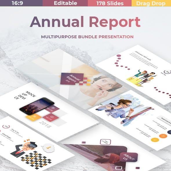 Annual Report - Business Google Slide Template