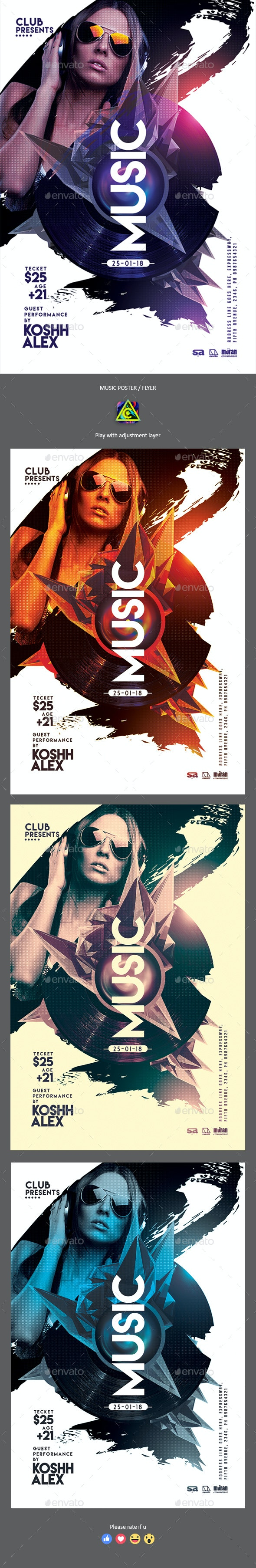 Music Party Poster / Flyer - Clubs & Parties Events