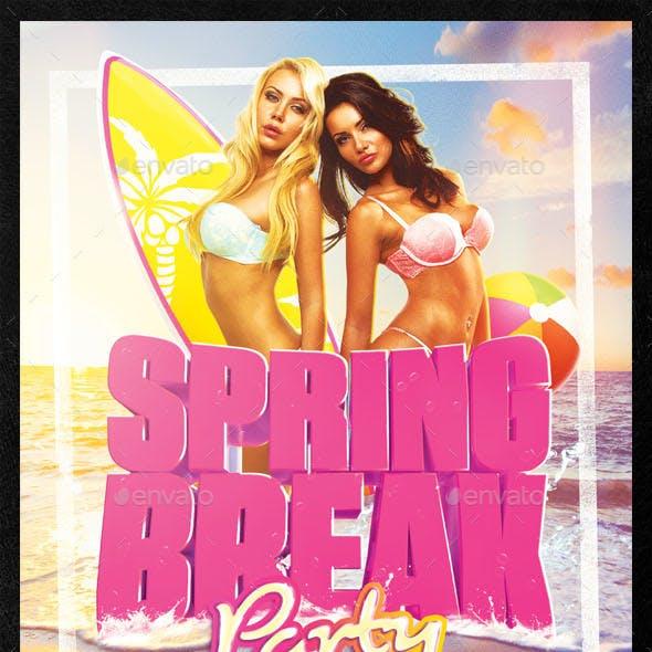 Spring Break 2018 Flyer Template