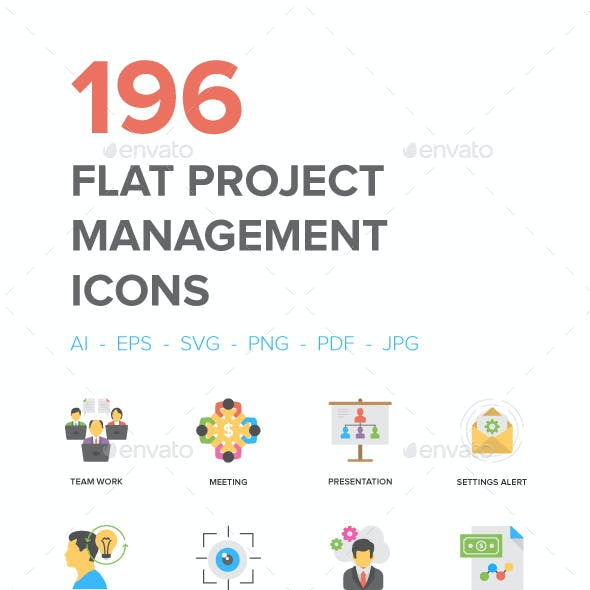 Flat Project Management Icons