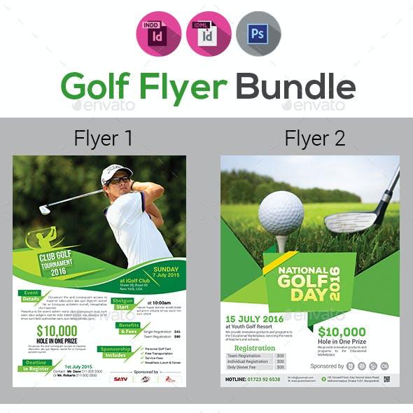 Golf Tournament Flyers Bundle