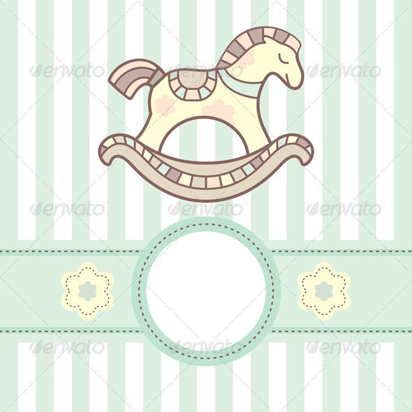 Baby Card With Horse - Animals Characters