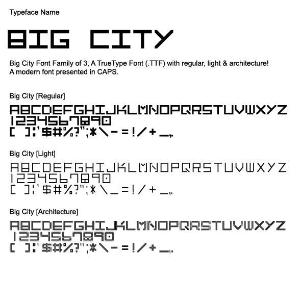 Big_City_Font_Family - Sans-Serif Fonts