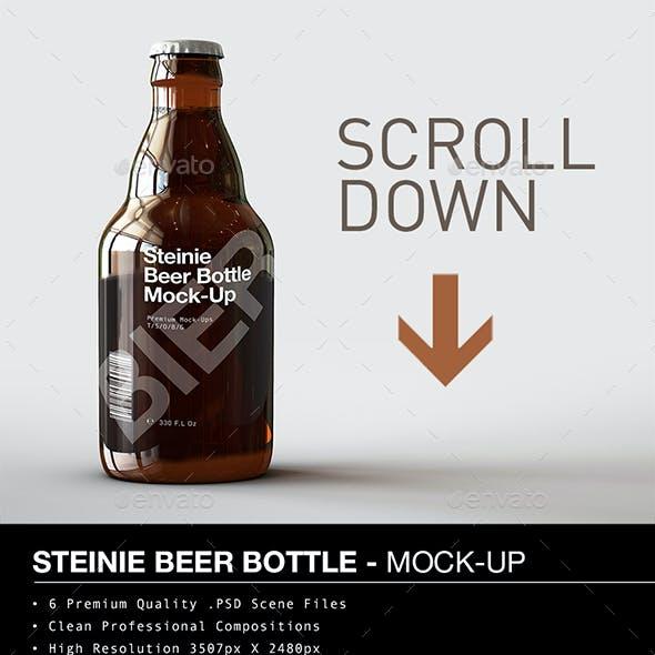 Beer Bottle Mock-Up   Steinie Edition
