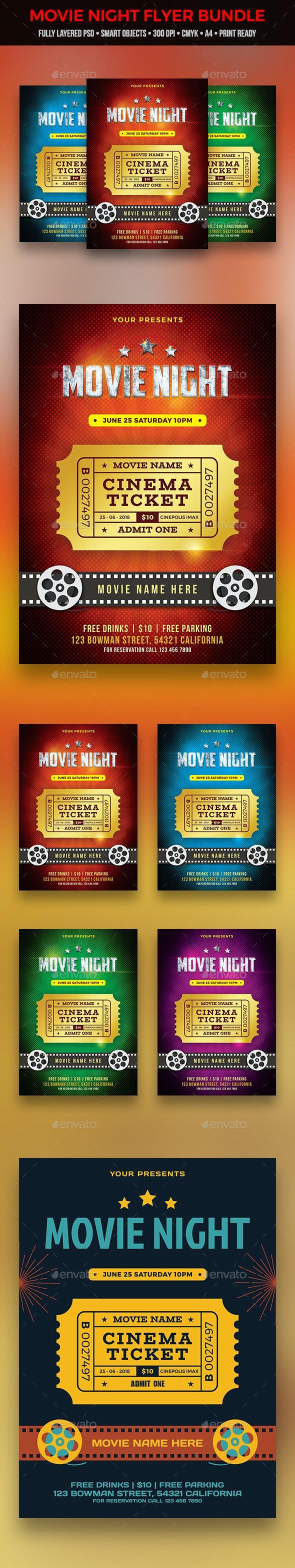 Movie Flyer Bundle - Clubs & Parties Events