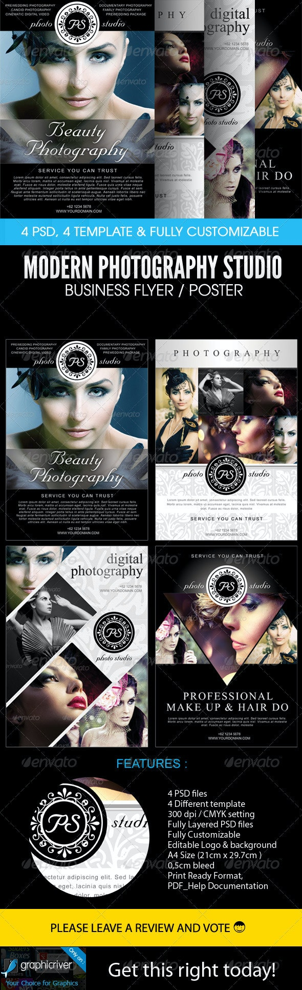 Modern Photography Studio Flyer/Poster - Flyers Print Templates