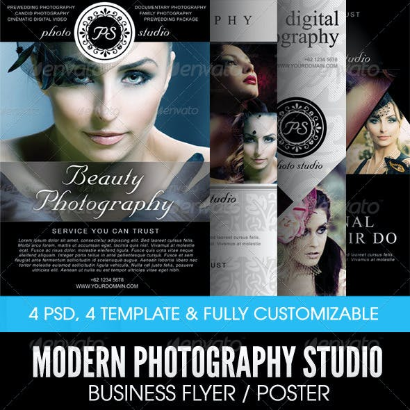 Modern Photography Studio Flyer/Poster