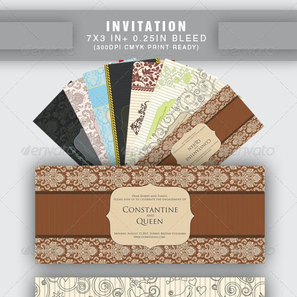 20 items Wedding - Save the Date & Invitation