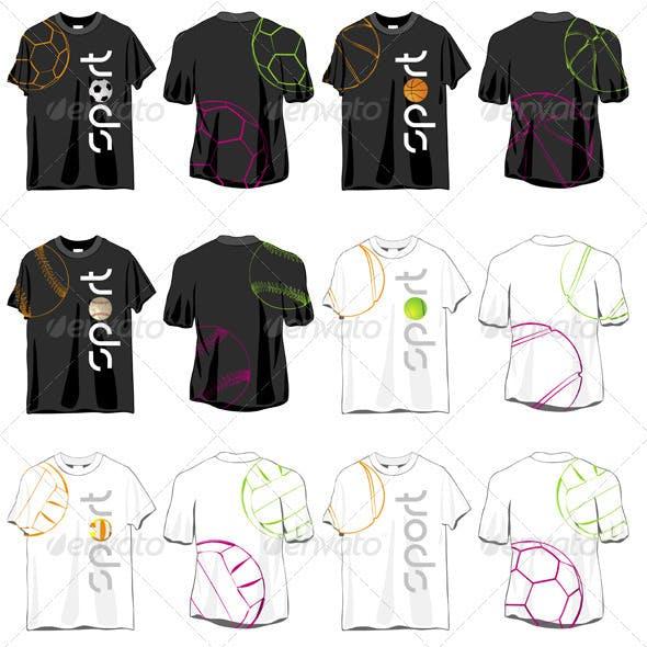 Sport T-shirts Designs Set