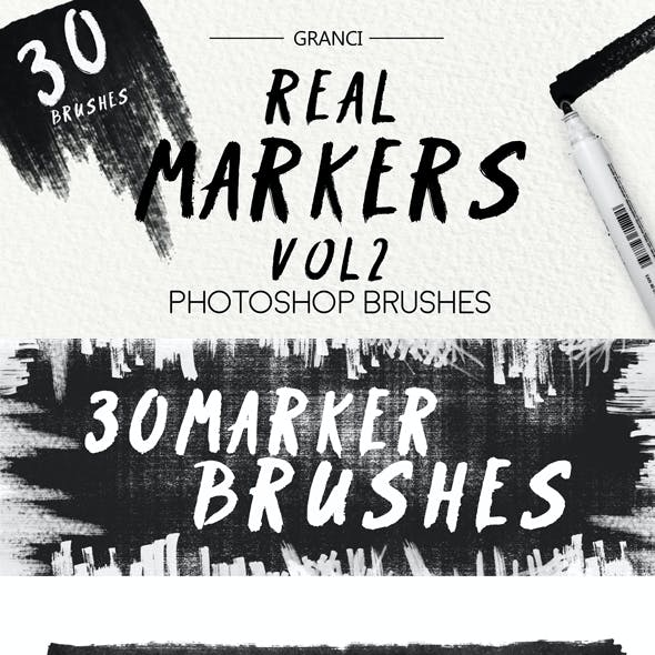 30 Real Marker Brushes Vol2