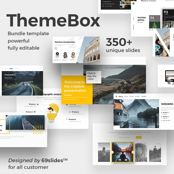 3 in 1  ThemeBox Bundle Powerpoint Creative Template