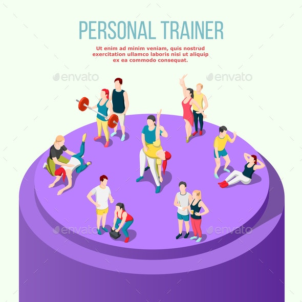 Personal Trainer Isometric Composition