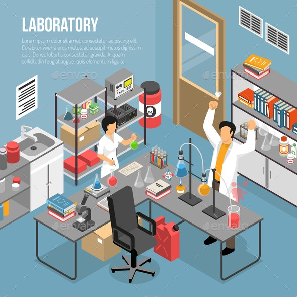In The Lab Composition - Health/Medicine Conceptual