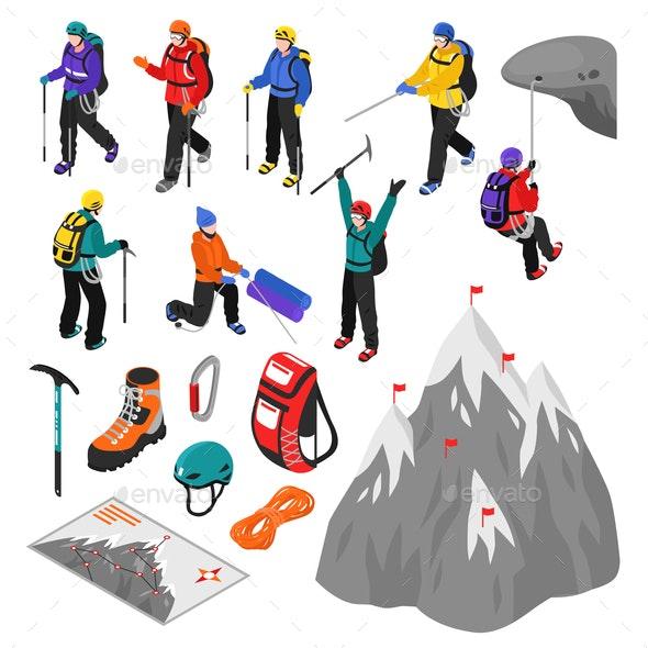 Mountaineering Isometric Set