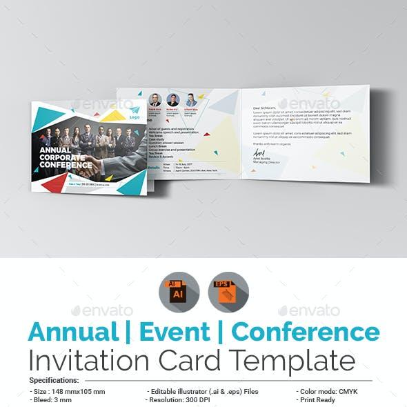 Annual Corporate Event/Conference Invitation Card