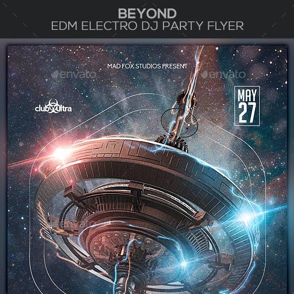 Beyond EDM Electro Dj Party Flyer