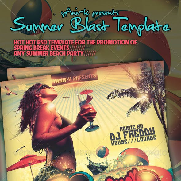 Summer Blast  Flyer Template