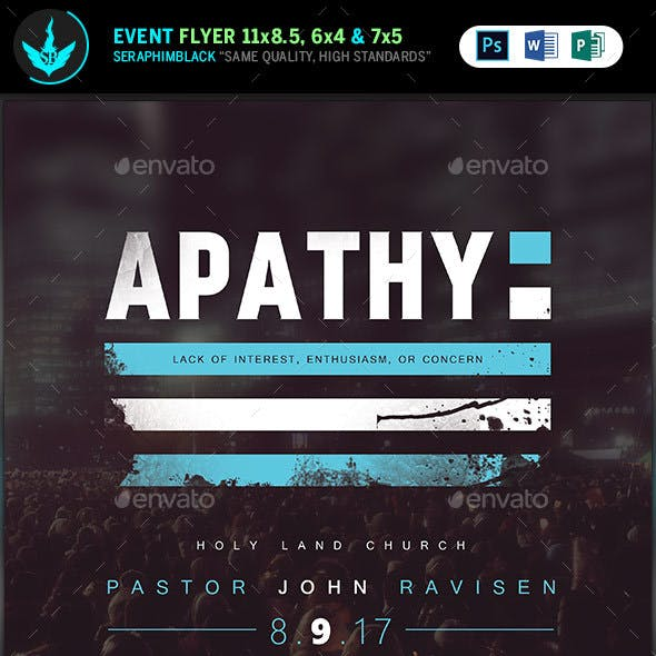 Apathy: Church Flyer Template
