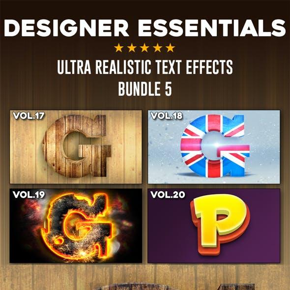 Ultra Realistic Text Effect Bundle Vol.5