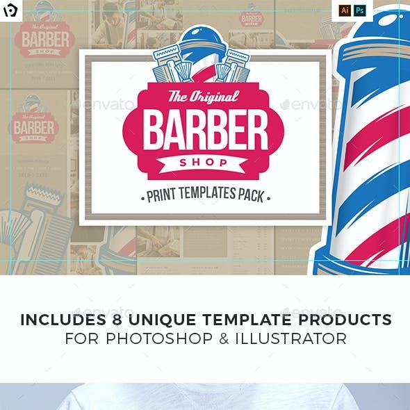 Barber Shop Print Templates Bundle