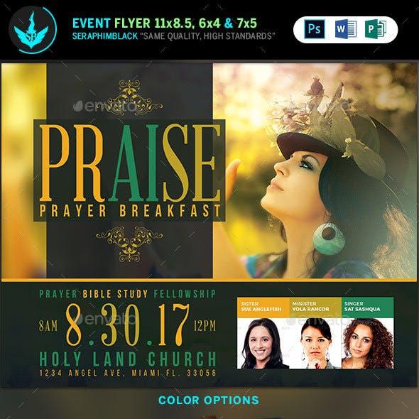 Praise Prayer Breakfast Flyer Template