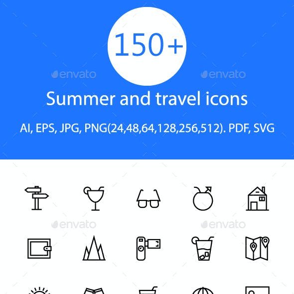 Summer and Travel Icon