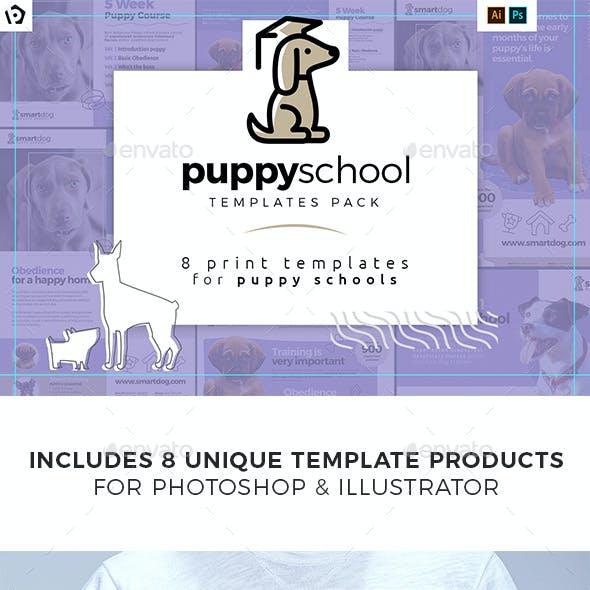 Puppy School Print Templates Bundle