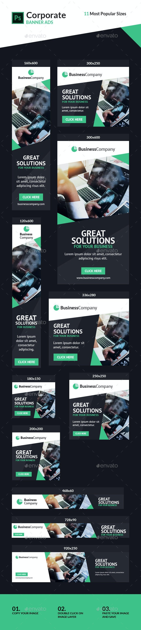 Corporate Ad Banners #2 - Banners & Ads Web Elements