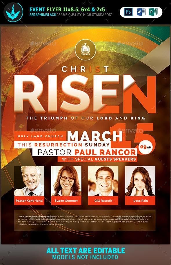 Christ is Risen Church Flyer  Template - Church Flyers