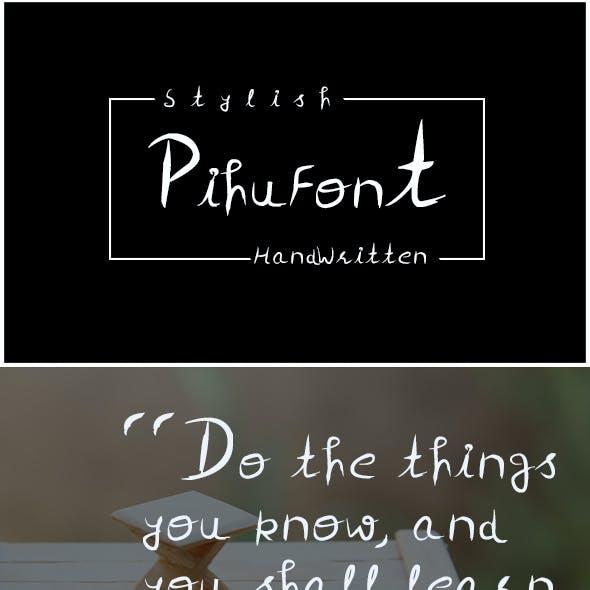 PihuFont - Handwritten Script