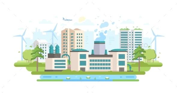 Eco-friendly Industry - Modern Flat Design Style