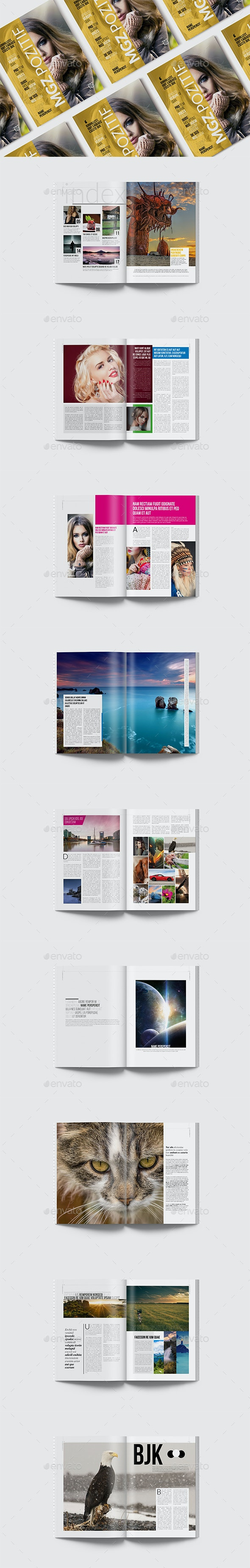 Magazine Template 20 Pages - Magazines Print Templates