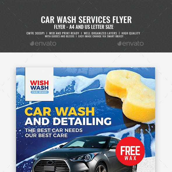 Car Wash and Detailing Services Flyer