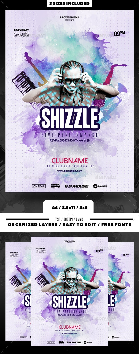 Artist Promotion Flyer - Clubs & Parties Events
