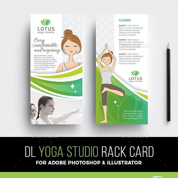 Yoga Studio Rack Card Template