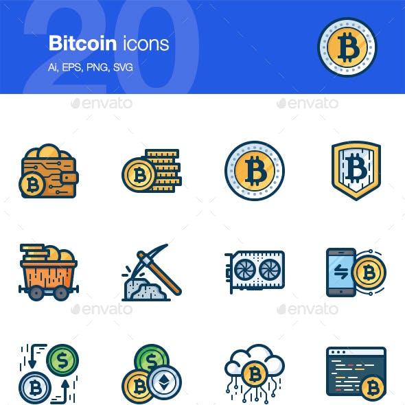 20 Bitcoin icons