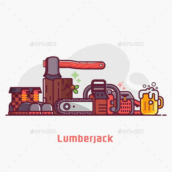 Lumberjack Lifestyle Equipment and Tools