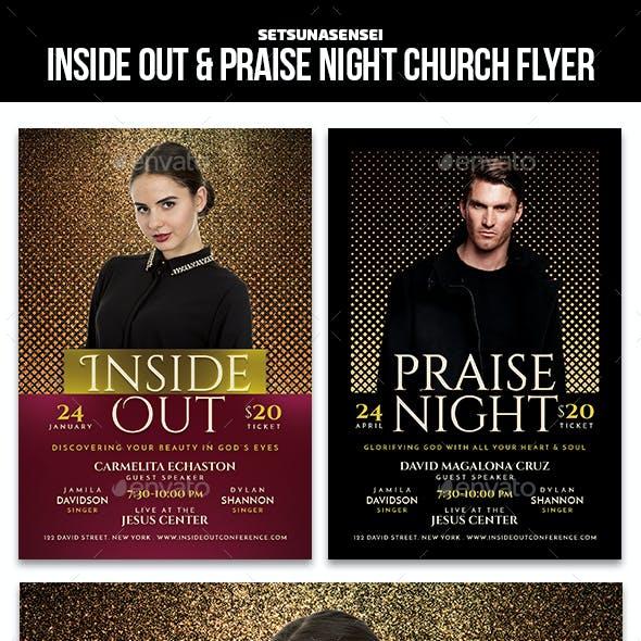 Inside Out & Praise Night Church Flyer