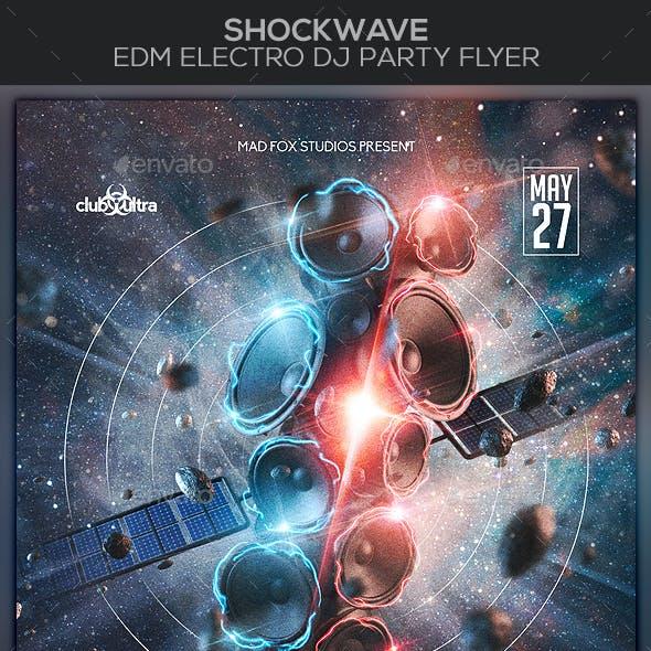 ShockWave EDM Electro Dj Party Flyer