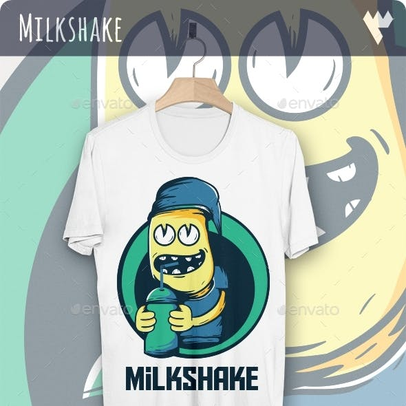 Drink Milkshake Boy T-Shirt Design