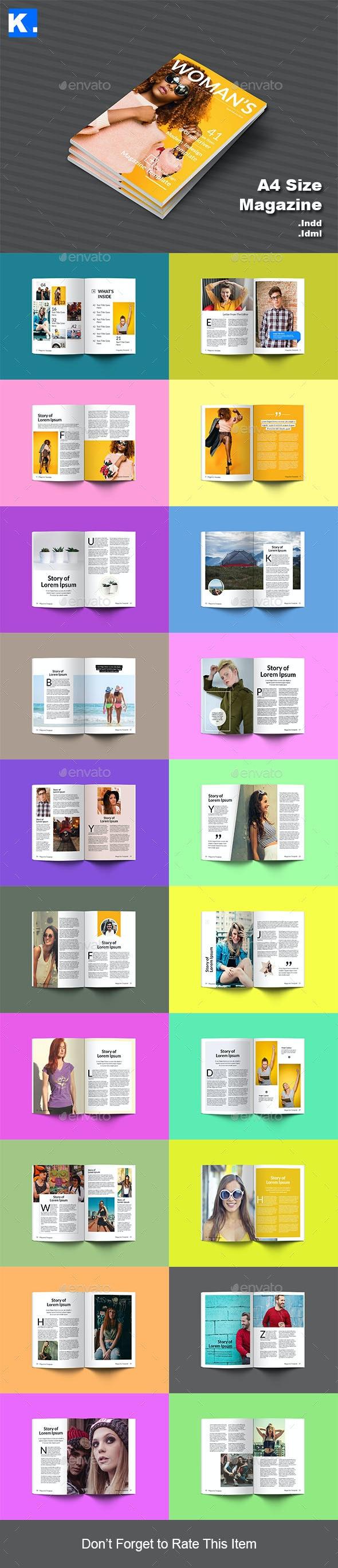 Indesign Magazine Template 8 - Magazines Print Templates