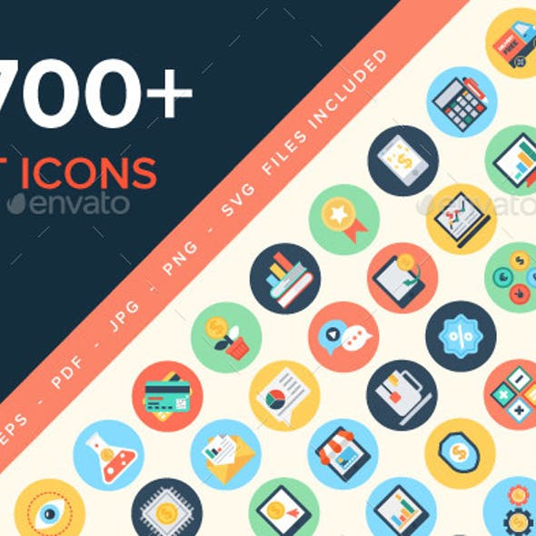 5700+ Flat Icons Pack