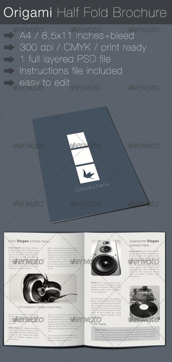 Origami Half Fold Brochure - Corporate Brochures