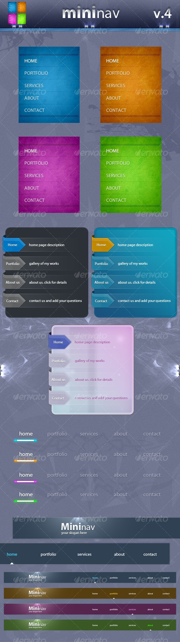 mininav v.4 - Web Elements