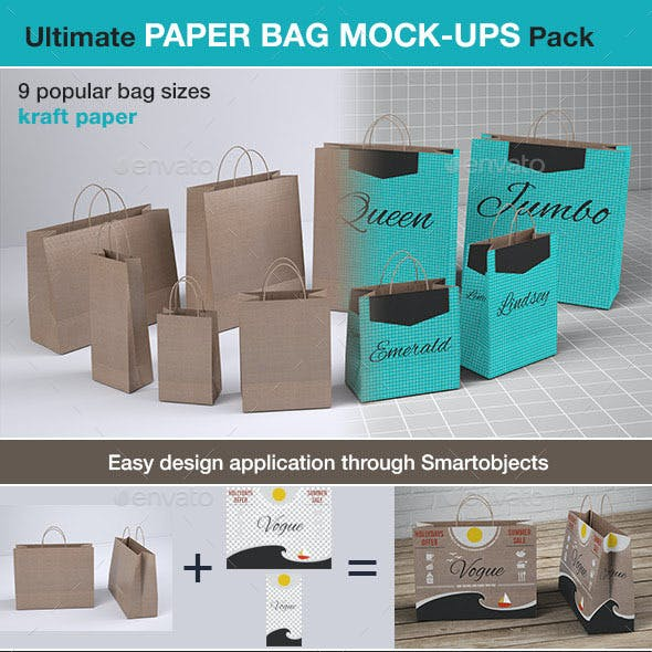 Shopping Paper Bag Mock-up