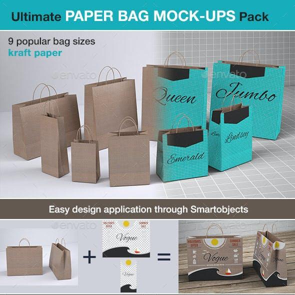Shopping Paper Bag Mock-up