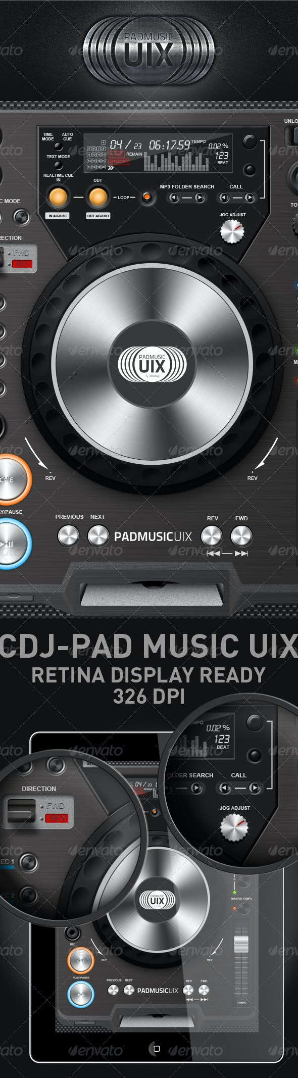 CDJ-Padmusicuix - Miscellaneous Graphics