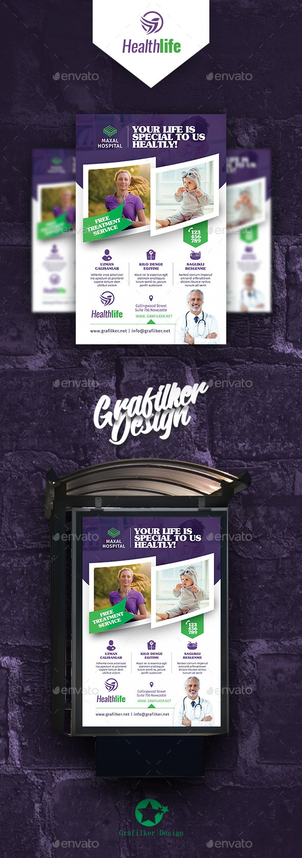 Healthy Life Poster Templates - Signage Print Templates