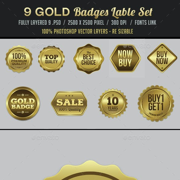 Gold Badges / Label