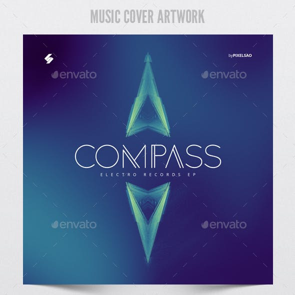 Compass - Music Cover Artwork Template